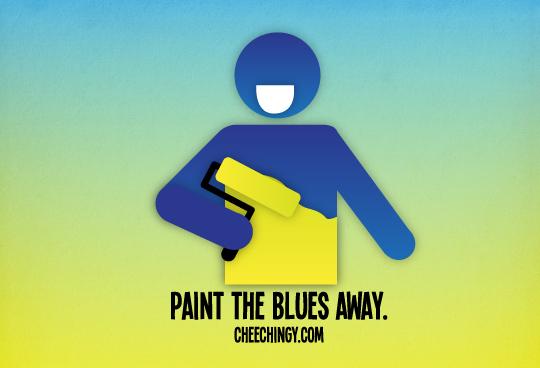 365 Art #36 Paint the Blues Away