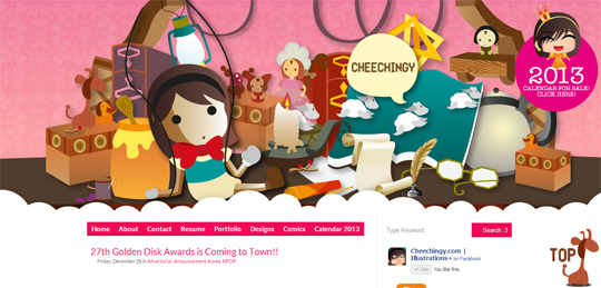 New Layout: The Wooden Girl + Calendar Illustrations!
