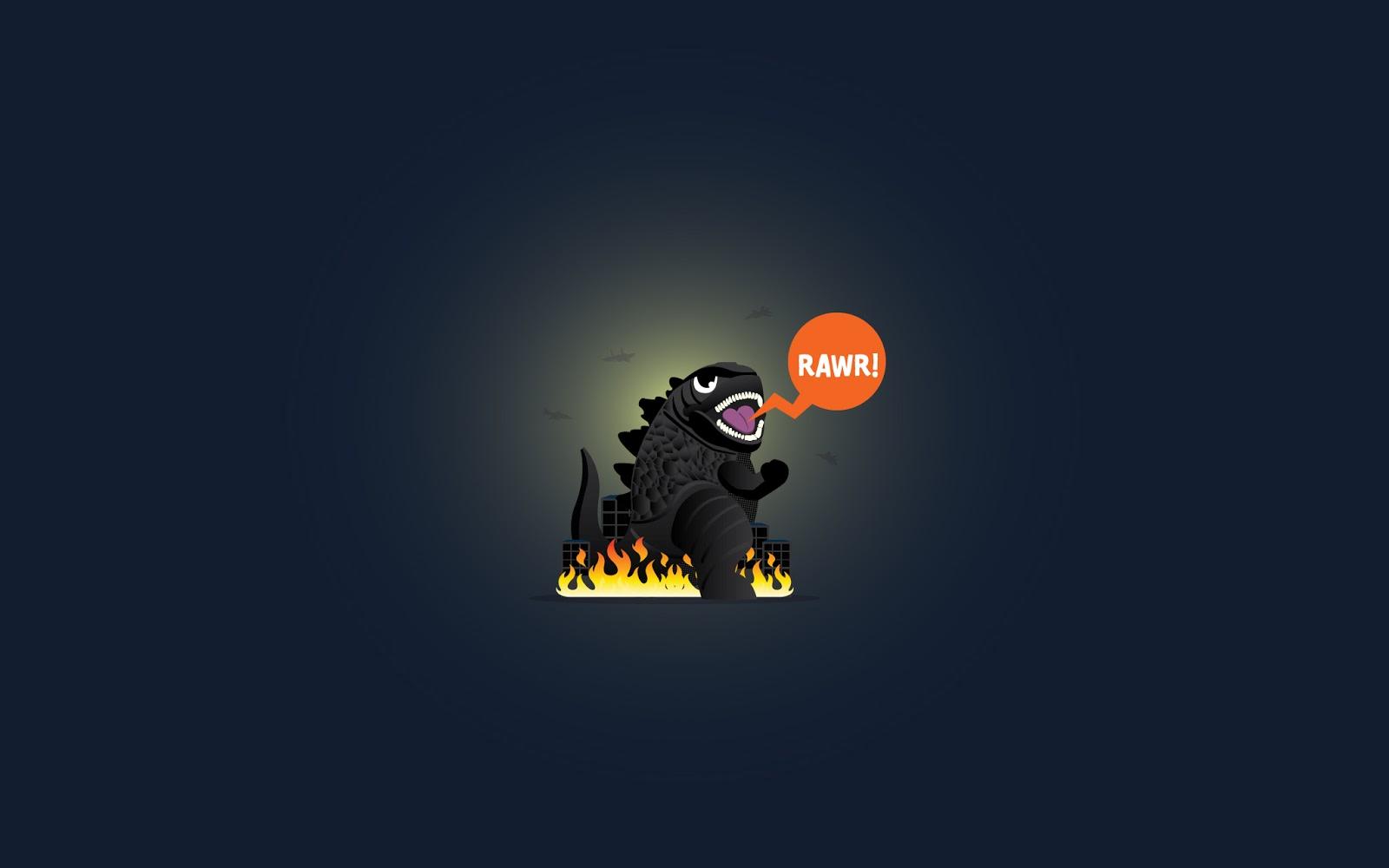 [Wallpaper] Hello! I'm Godzilla rawr!