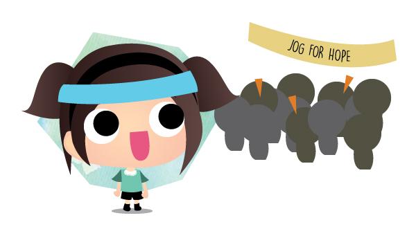 Running at #JogForHope 2015