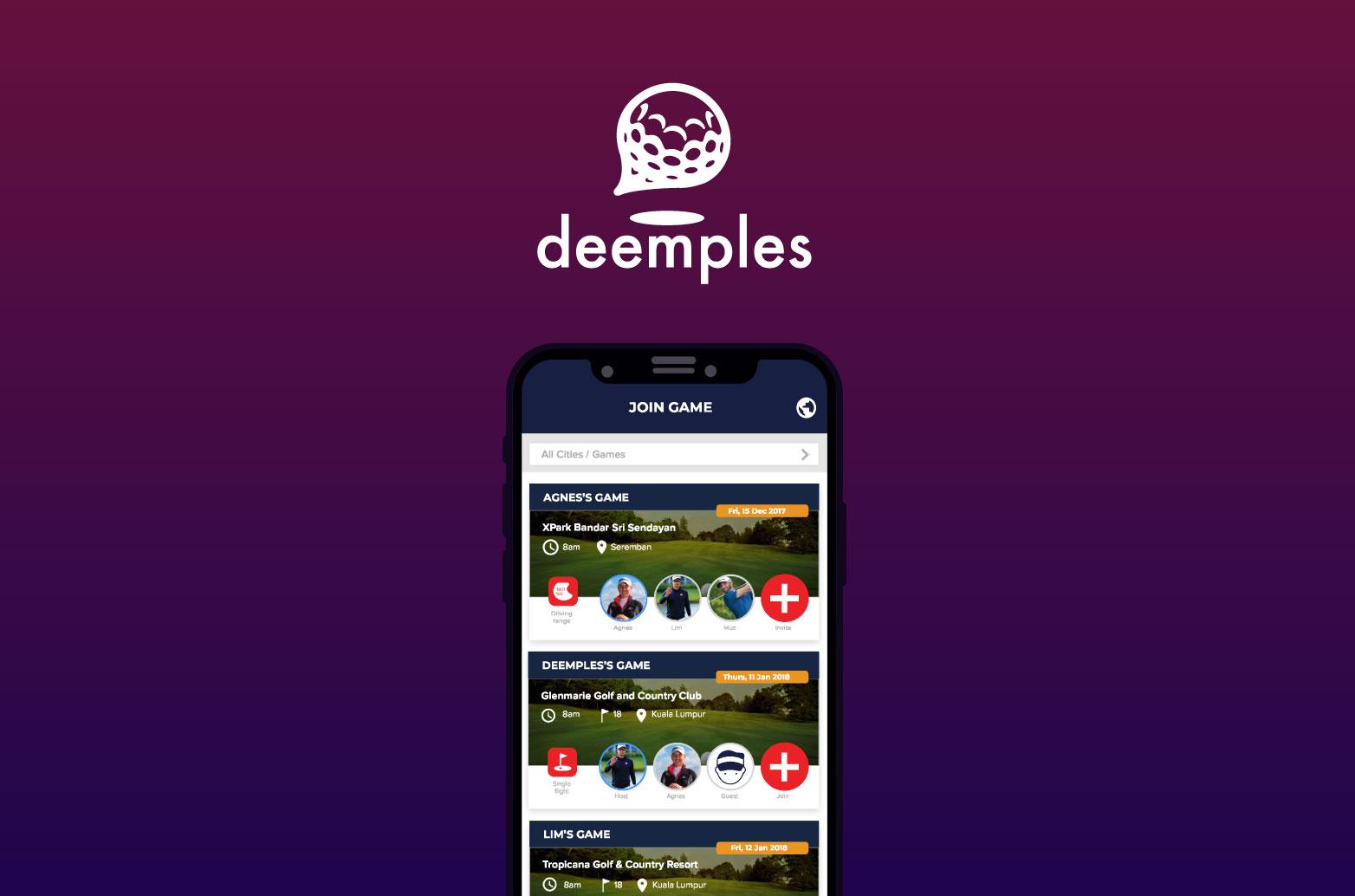 Deemples App and Branding